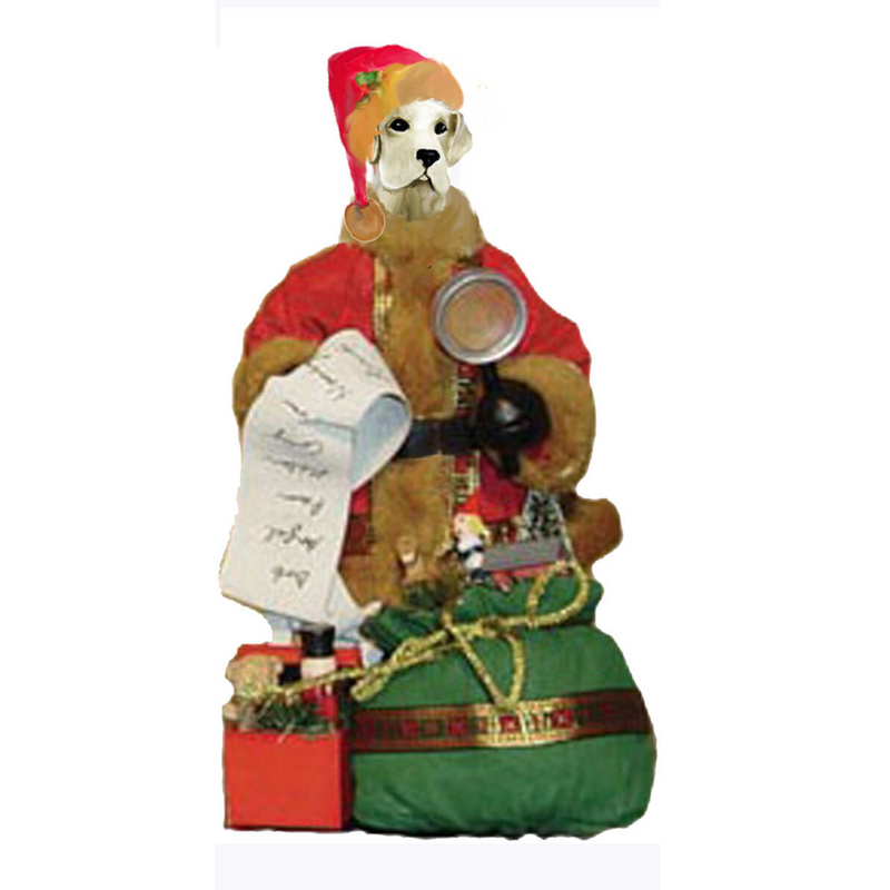 Labrador Retriever Toy List Santa Statue