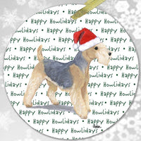 "Lakeland Terrier ""Happy Howlidays"" Ornament"