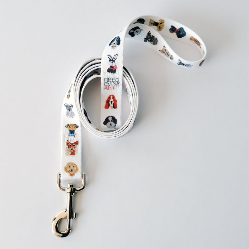 Reed Evins Dog Collage Leash