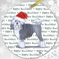 "Lowchen ""Happy Howlidays"" Ornament"