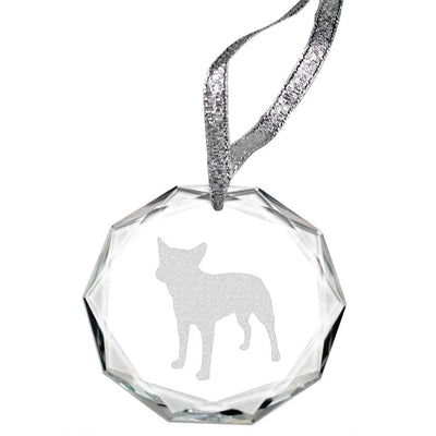 Australian Cattle DogLaser Engraved Round Facet Crystal Ornament