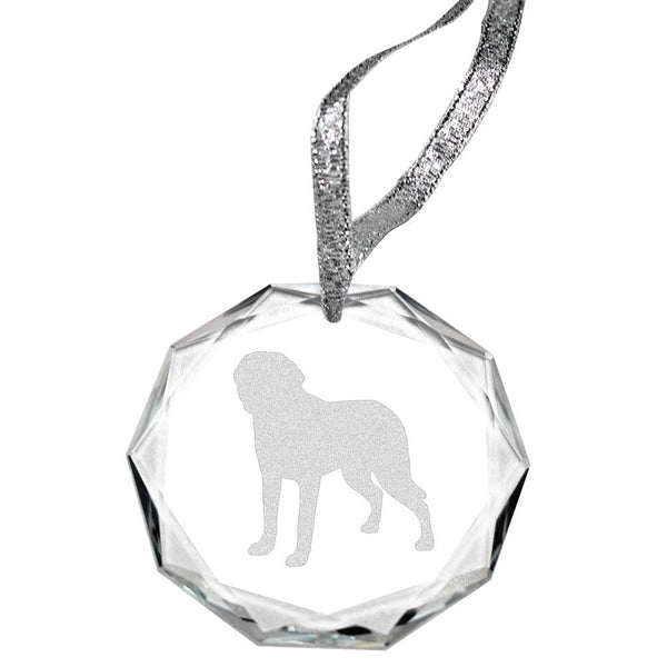 Chesapeake Bay Retriever Laser Engraved Round Facet Crystal Ornament