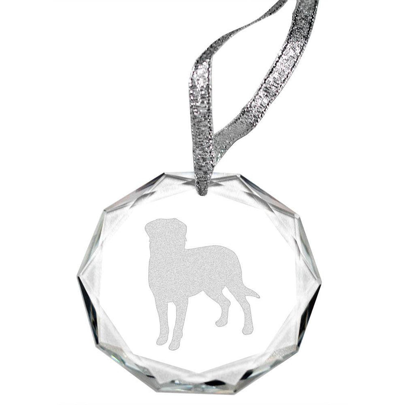 Entlebucher Mountain Dog Laser Engraved Round Facet Crystal Ornament