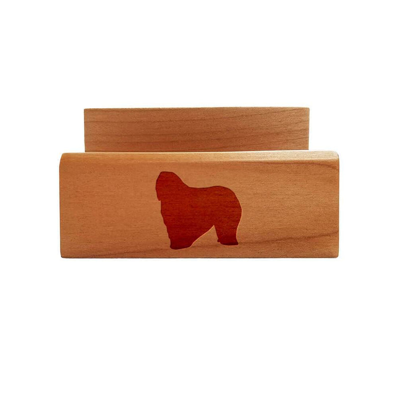 Bergamasco Laser Engraved Maple Business Card Holder