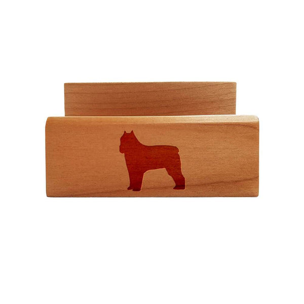 Bouvier des Flandres Laser Engraved Maple Business Card Holder