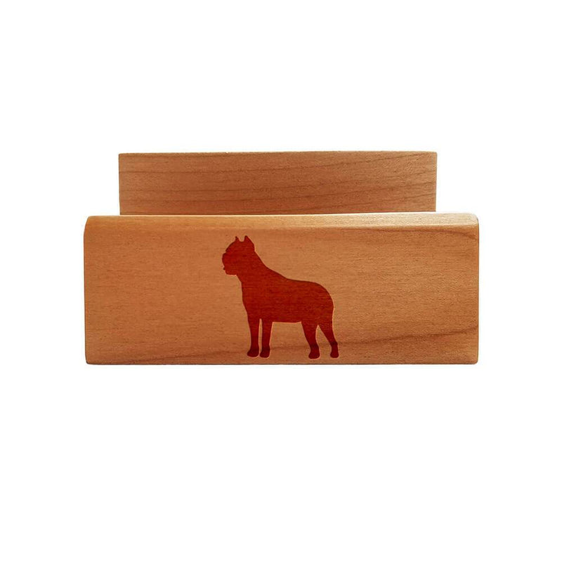 Cane Corso Laser Engraved Maple Business Card Holder