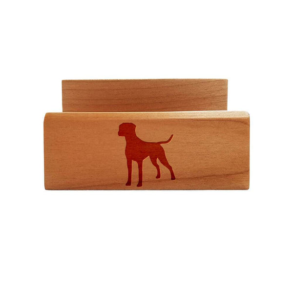 Dalmatian Laser Engraved Maple Business Card Holder