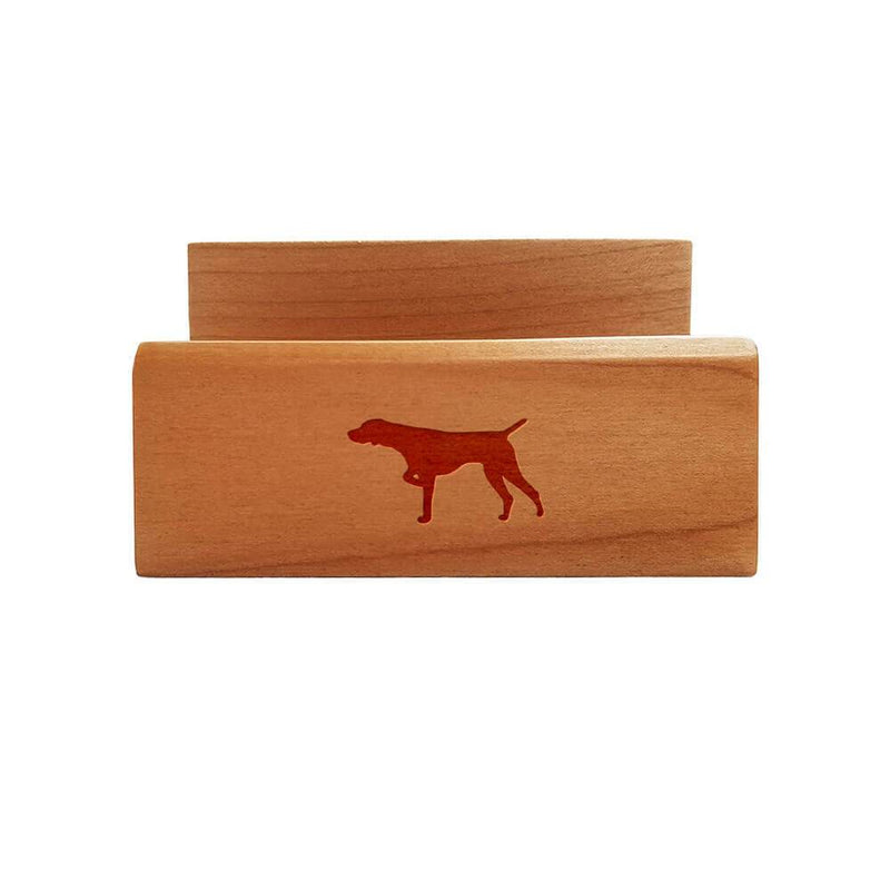 German Shorthaired Pointer Laser Engraved Maple Business Card Holder