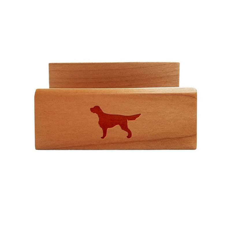 Gordon Setter Laser Engraved Maple Business Card Holder