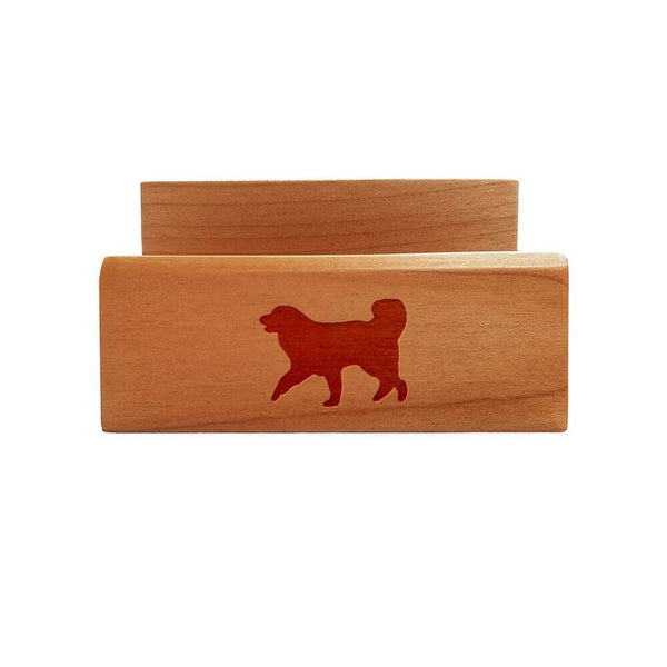 Great Pyrenees Laser Engraved Maple Business Card Holder