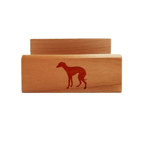 Italian Greyhound Laser Engraved Maple Business Card Holder