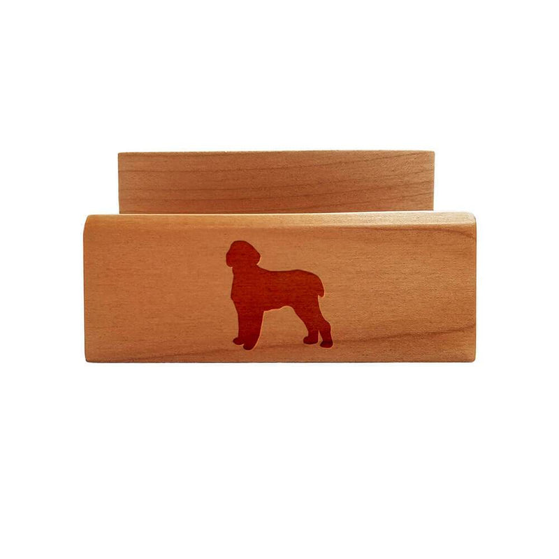 Spinone Italiano Laser Engraved Maple Business Card Holder