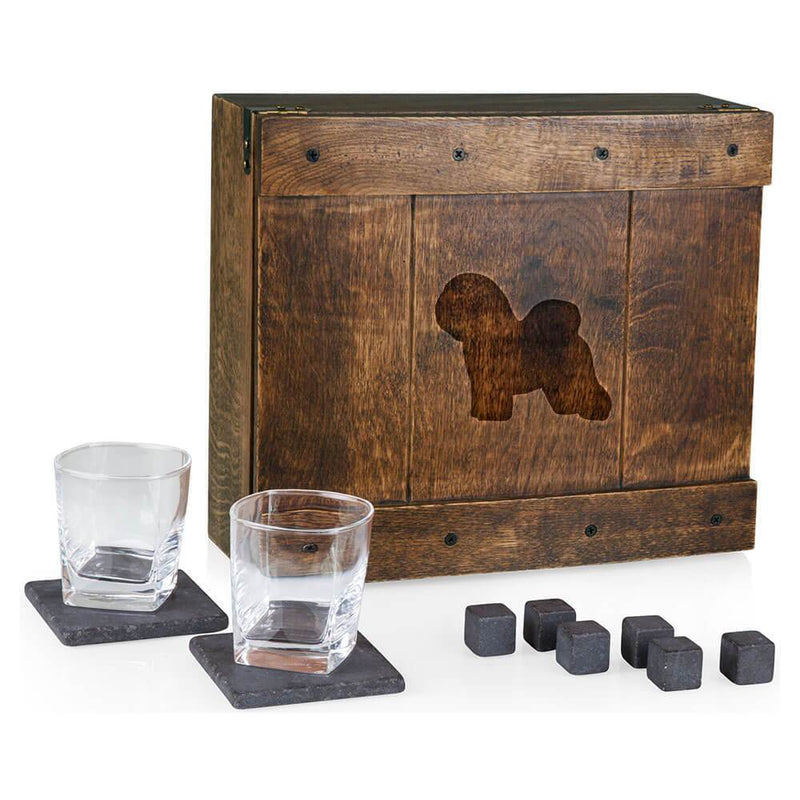 Bichon Frise Laser Engraved Whiskey Box