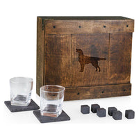 Flat Coated Retriever Laser Engraved Whiskey Box
