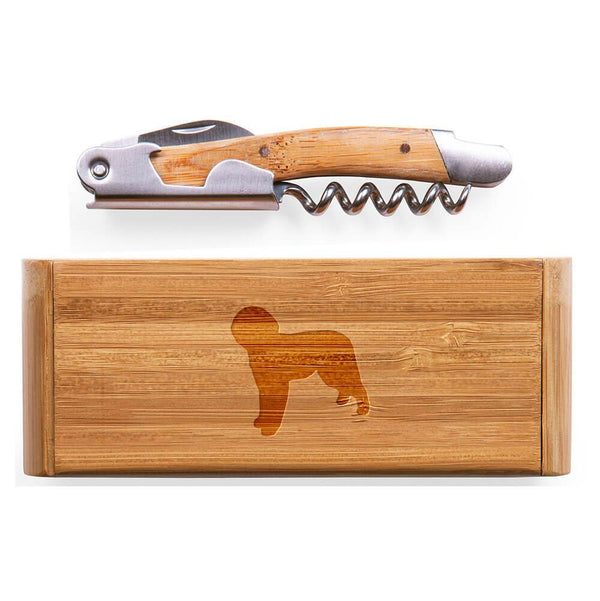 Lagotto Romagnolo Laser Engraved Bamboo Corkscrew with Case