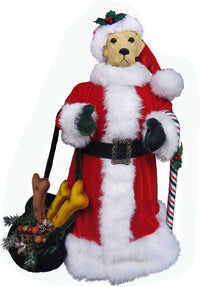 Labrador Retriever Large Santa Statue