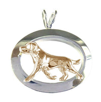 Labrador Retriever Sterling & 14k Gold Jewelry