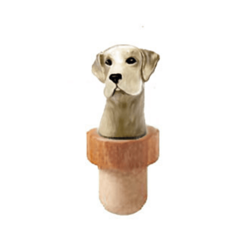 Labrador Retriever Head Cork Bottle Stopper