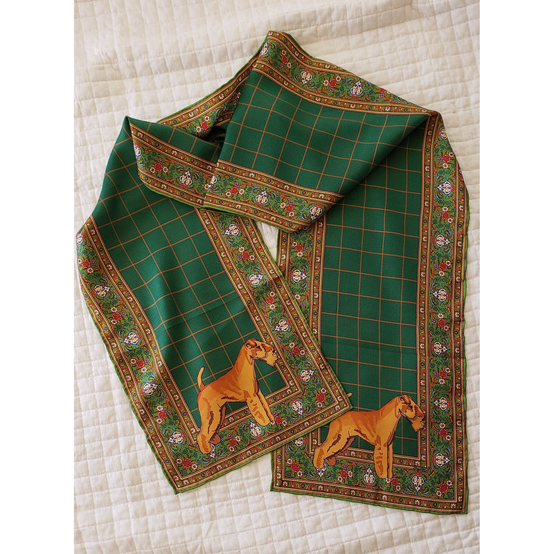 Lakeland Terrier Oblong Silk Scarf