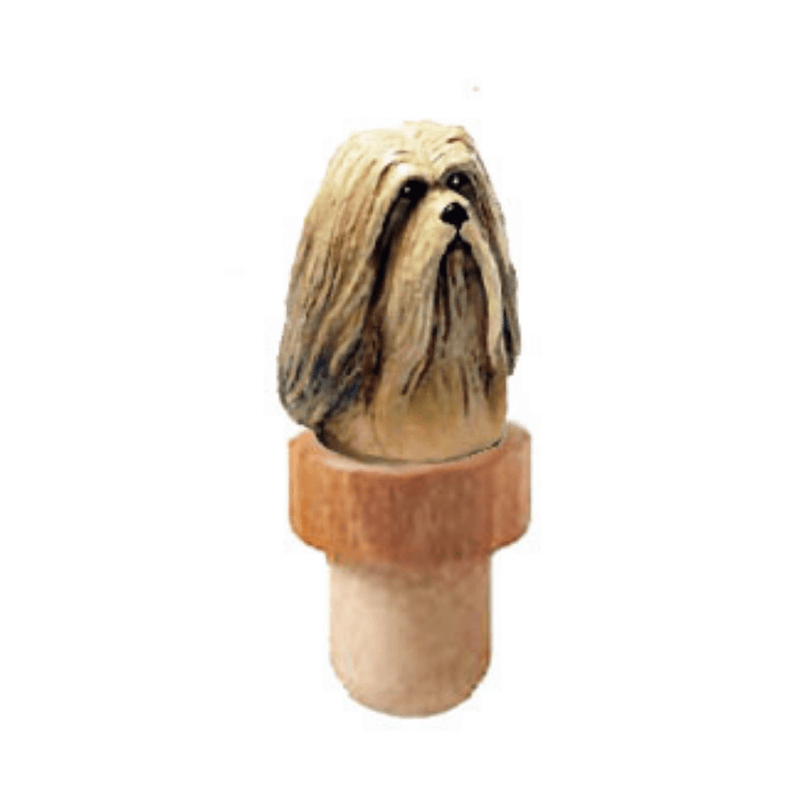 Lhasa Apso Head Cork Bottle Stopper