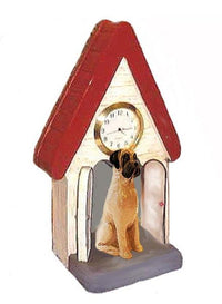 Mastiff Figurine Clock