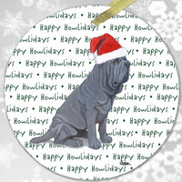 "Neapolitan Mastiff ""Happy Howlidays"" Ornament"