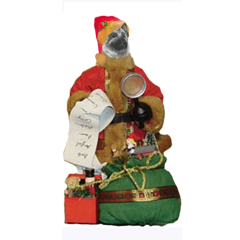 Norwegian Elkhound Toy List Santa Statue