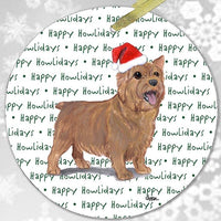 "Norwich Terrier ""Happy Howlidays"" Ornament"