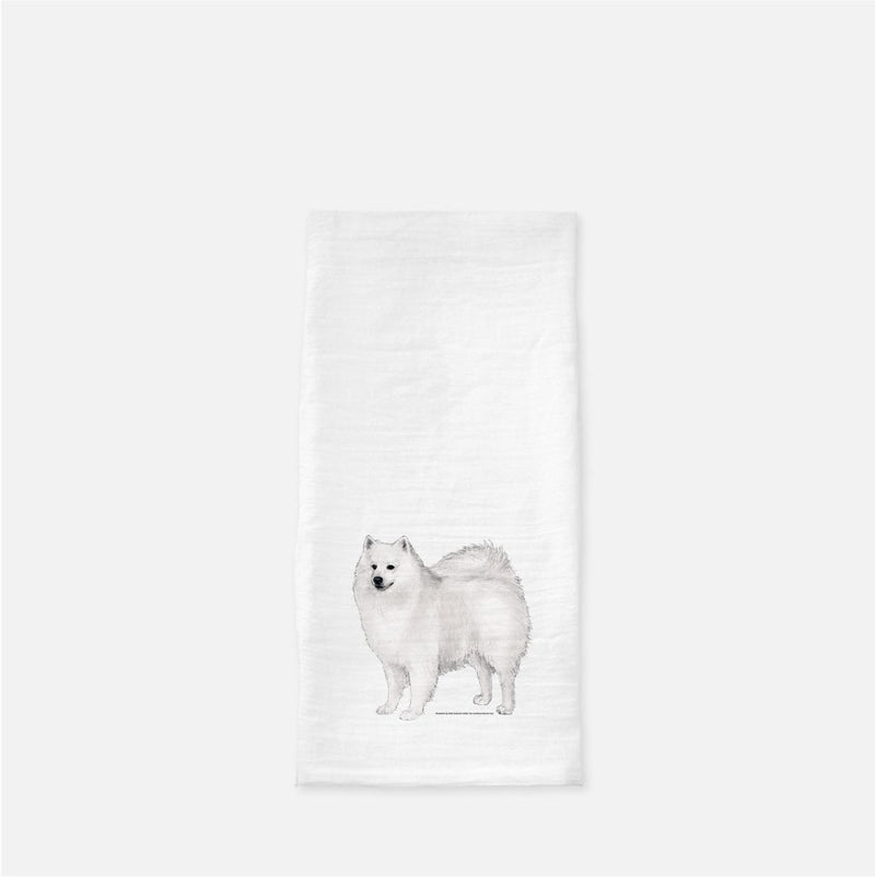 American Eskimo Dog Tea Towel