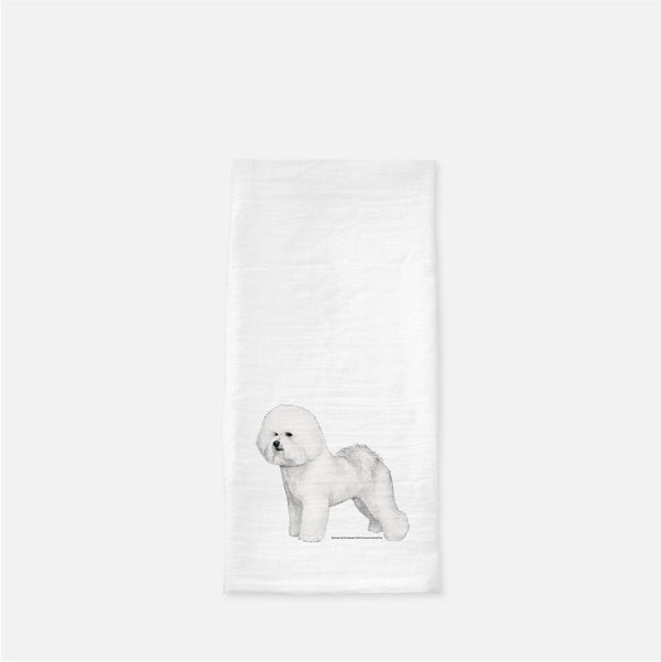 Bichon Frise Tea Towel