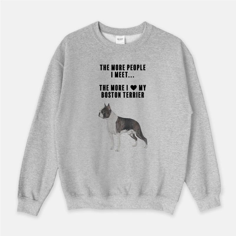 Boston Terrier Love Unisex Crew Neck Sweatshirt