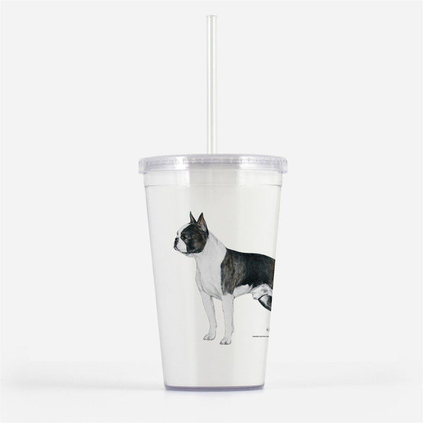 Boston Terrier Beverage Tumbler
