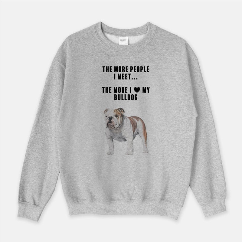 Bulldog Love Unisex Crew Neck Sweatshirt