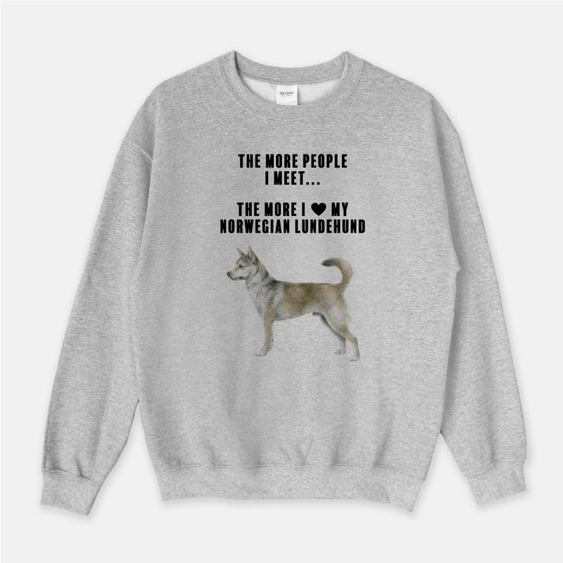 Norwegian Lundehund Love Unisex Crew Neck Sweatshirt
