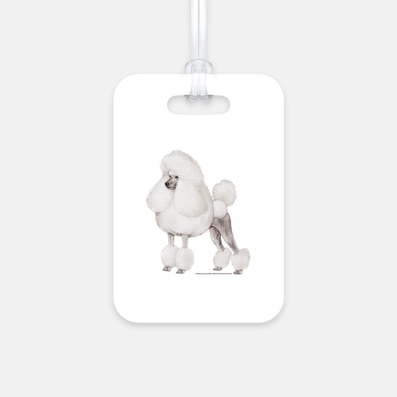 2 Pack Luggage Tags Bichon Frise Baggage Tag For Travel Tags Accessories