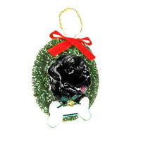 Newfoundland Wreath and Bone Ornament