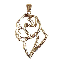 Norfolk Terrier 14K Gold Cut Out Pendant