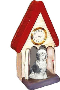 Old English Sheepdog Figurine Clock