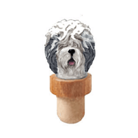 Old English Sheepdog Head Cork