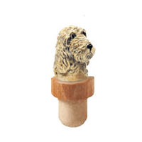 Otterhound Head Cork Bottle Stopper