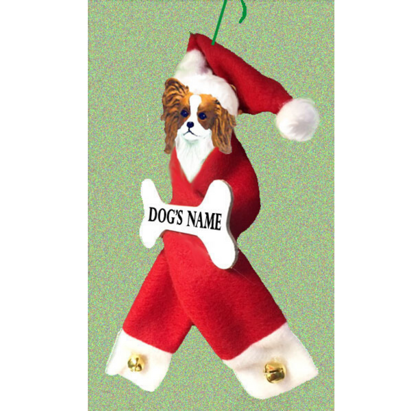 Papillon Santa Bone Ornament