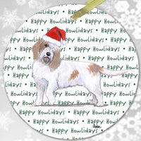 "Petit Basset Griffon Vendeen ""Happy Howlidays"" Ornament"