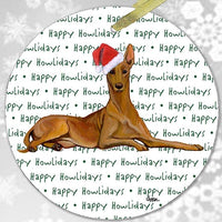 "Pharaoh Hound ""Happy Howlidays"" Ornament"