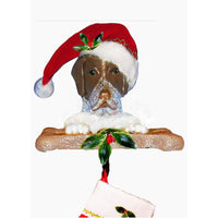 German Shorthaired Pointer Santa Stocking Holder