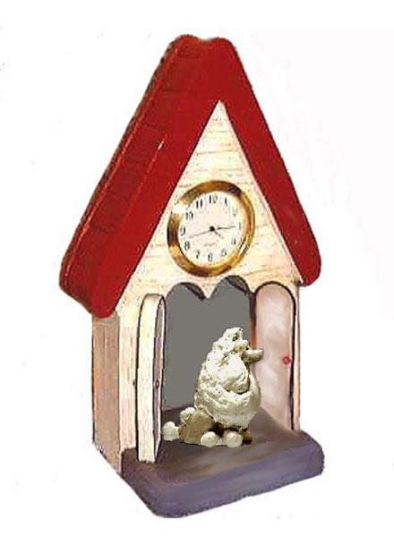 Poodle, Toy,  Figurine Clock