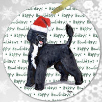 "Portuguese Water Dog ""Happy Howlidays"" Ornament"