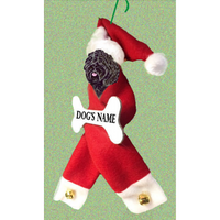 Puli Santa Bone Ornament