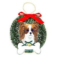 Papillon Wreath and Bone Ornament