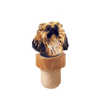 Pekingese Head Cork Bottle Stopper