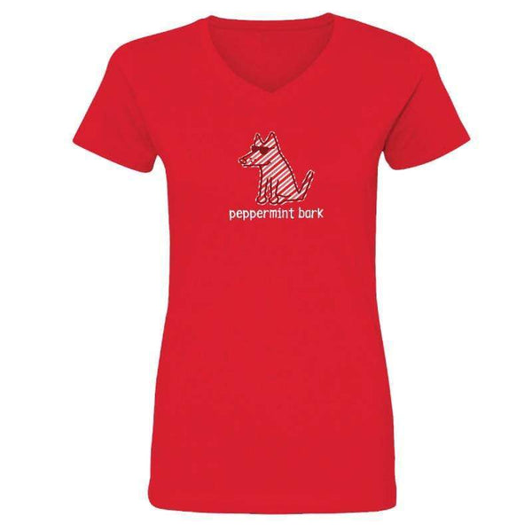 Peppermint Bark - Ladies T-Shirt V-Neck